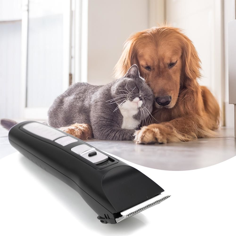 PHC-720 Low Noise Professional Pet Electric Grooming Clipper Black