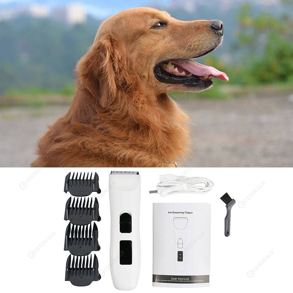 PHC-720 Low Noise Professional Pet Electric Grooming Clipper White