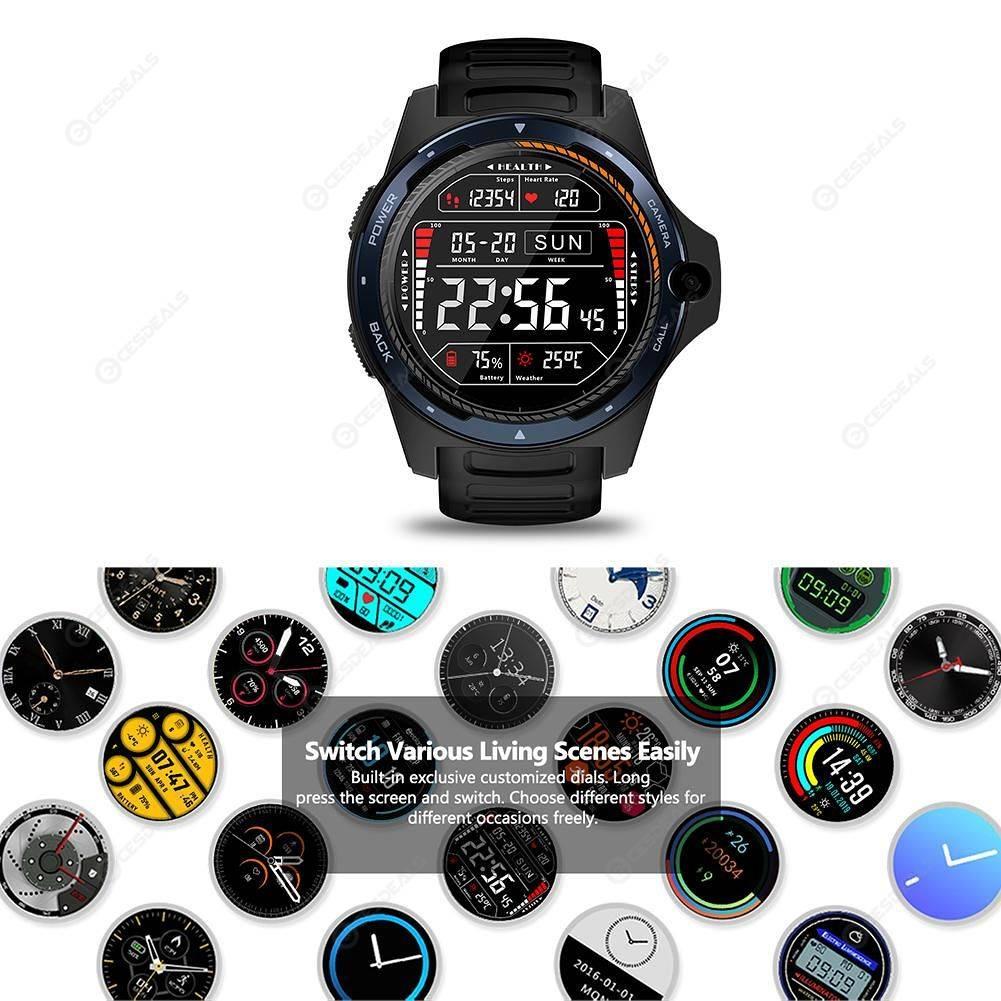 Zeblaze Thor 5 1 39 inch Pedometer WIFI GPS Sport Smart Watch Phone (Blue)