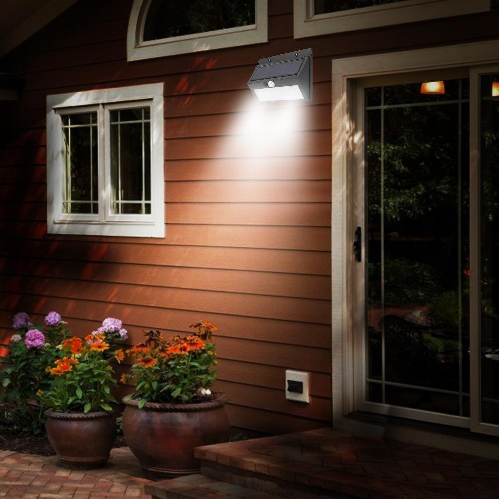 Solar Lamp Waterproof Night Light Motion Sensor Emergency Sconce (45LED)