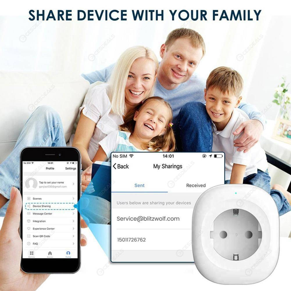 Tuya WIFI Smart Socket Smart Life APP Timming Control Mini Switch (EU Plug)