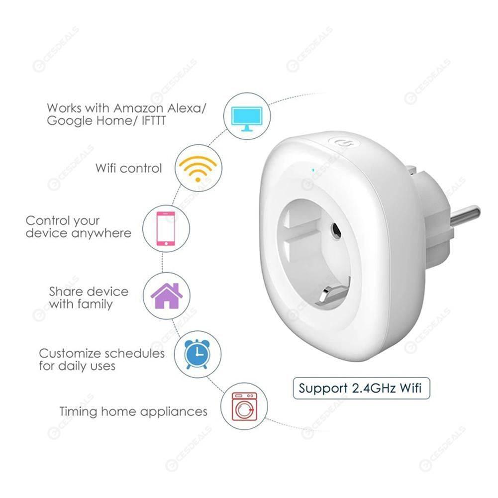Tuya WIFI Smart Socket Smart Life APP Timming Control Mini Switch (EU Plug)