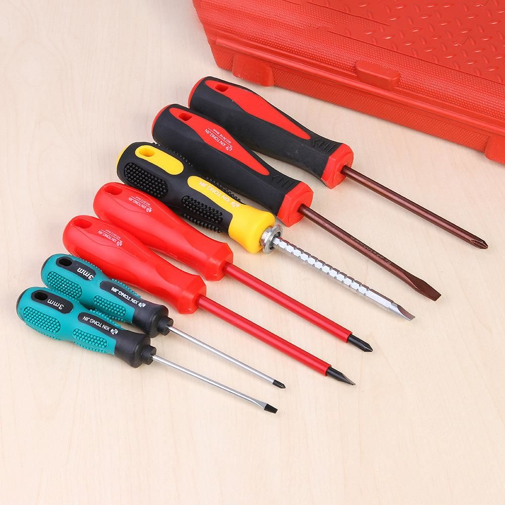 7pcs Phillips Slotted Multi-function Electrician Insulating Screwdriver Kit