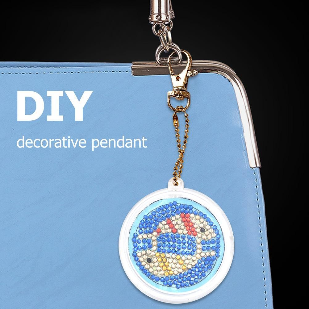 DIY Keychain Full Drill Diamond Painting Constellation Pendant (Pisces)