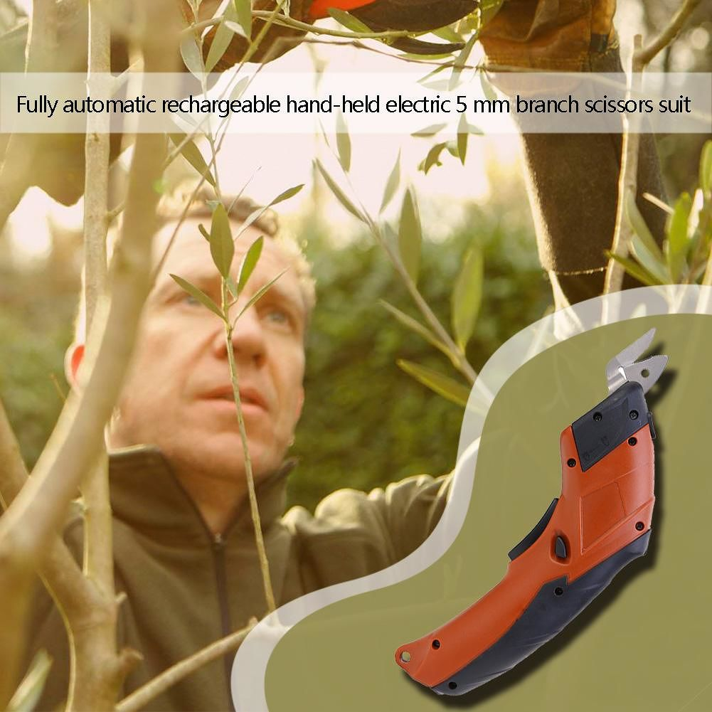 Automatic Rechargeable Hand-held Electric Plant Scissors Branch Pruner (US)