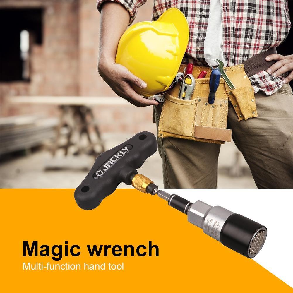 Torque Wrench Head Set Socket Sleeve Ratchet Bushing Spanner (4pcs Black)