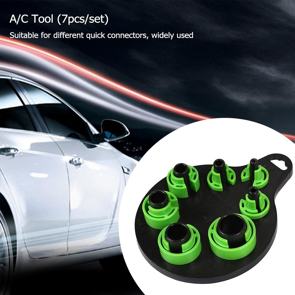 7pcs Car Air Conditioning Duct Removal Fuel Line Disconnect Tools (Green)