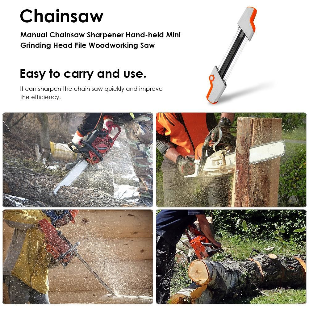 Manual Chainsaw Sharpener Hand-held Mini Grinding Head File Woodworking Saw
