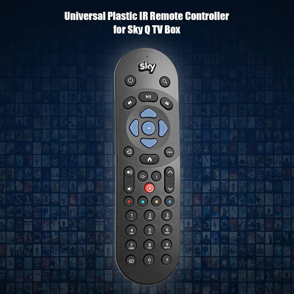 Universal Plastic IR Remote Controller for Sky Q TV Box Coontroller Black
