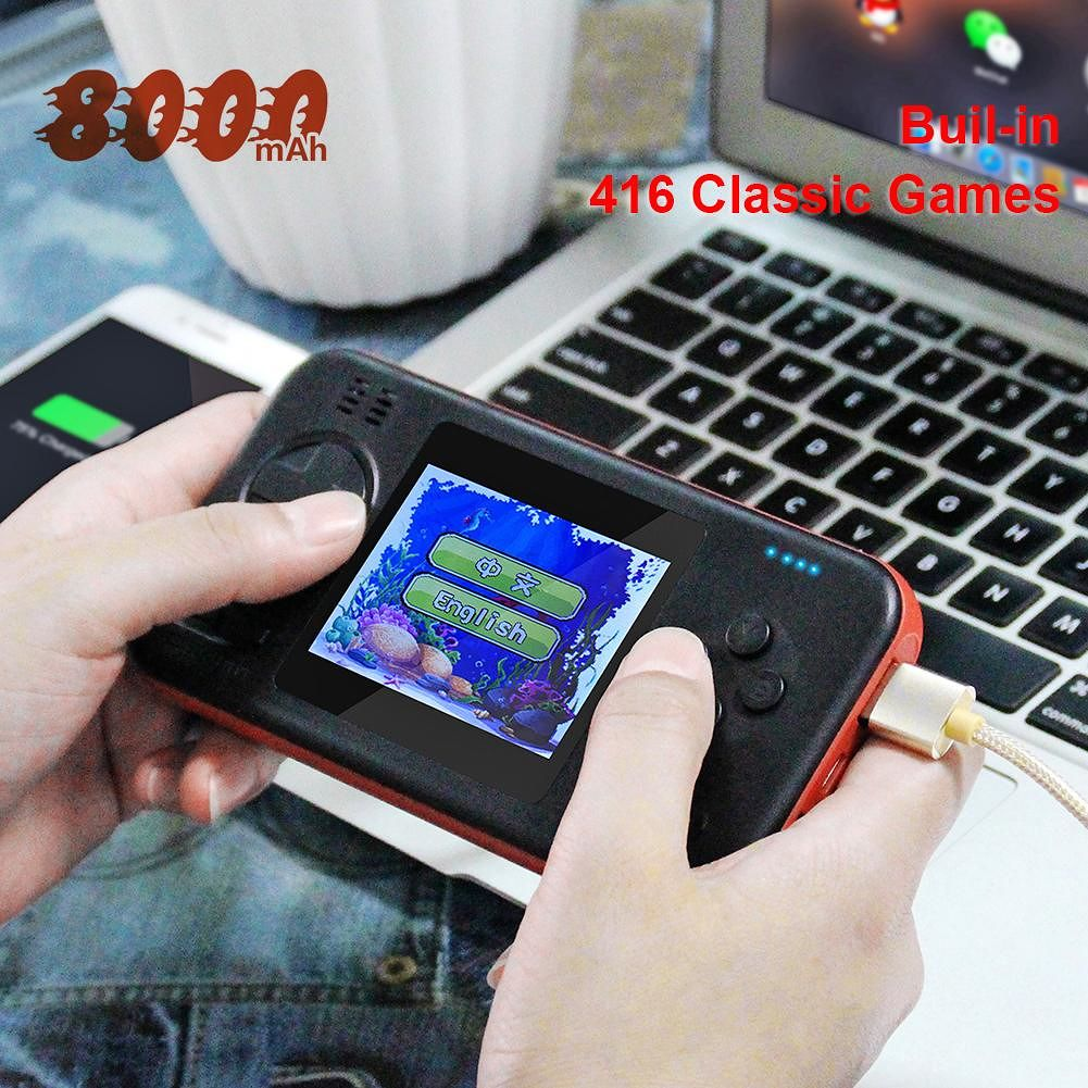 Handheld Gamepad Console with 8000mAh Power Bank Buil-in 416 Classic Games