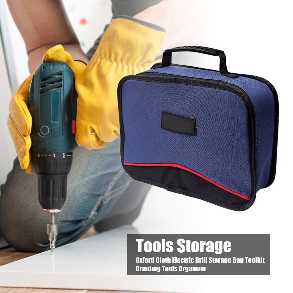 Oxford Cloth Electric Drill Storage Bag Toolkit Grinding Tools Organizer