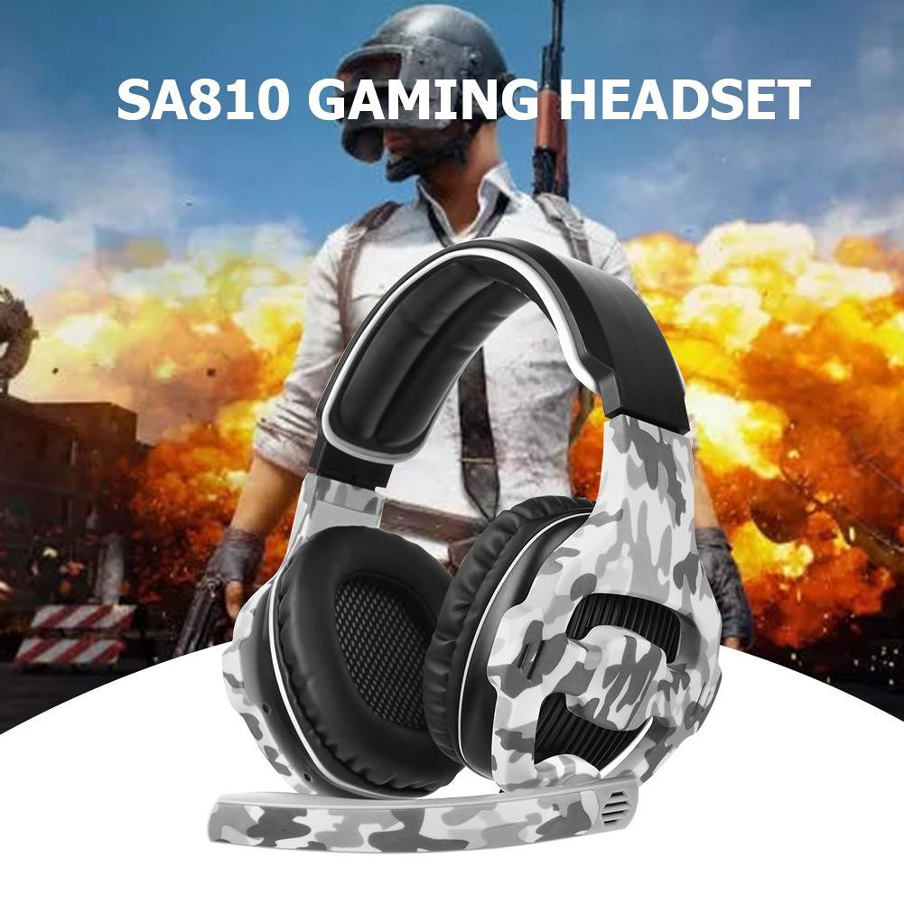 SADES SA810 Gaming Headset Camouflage Over-ear Headphones with Mic for PS4