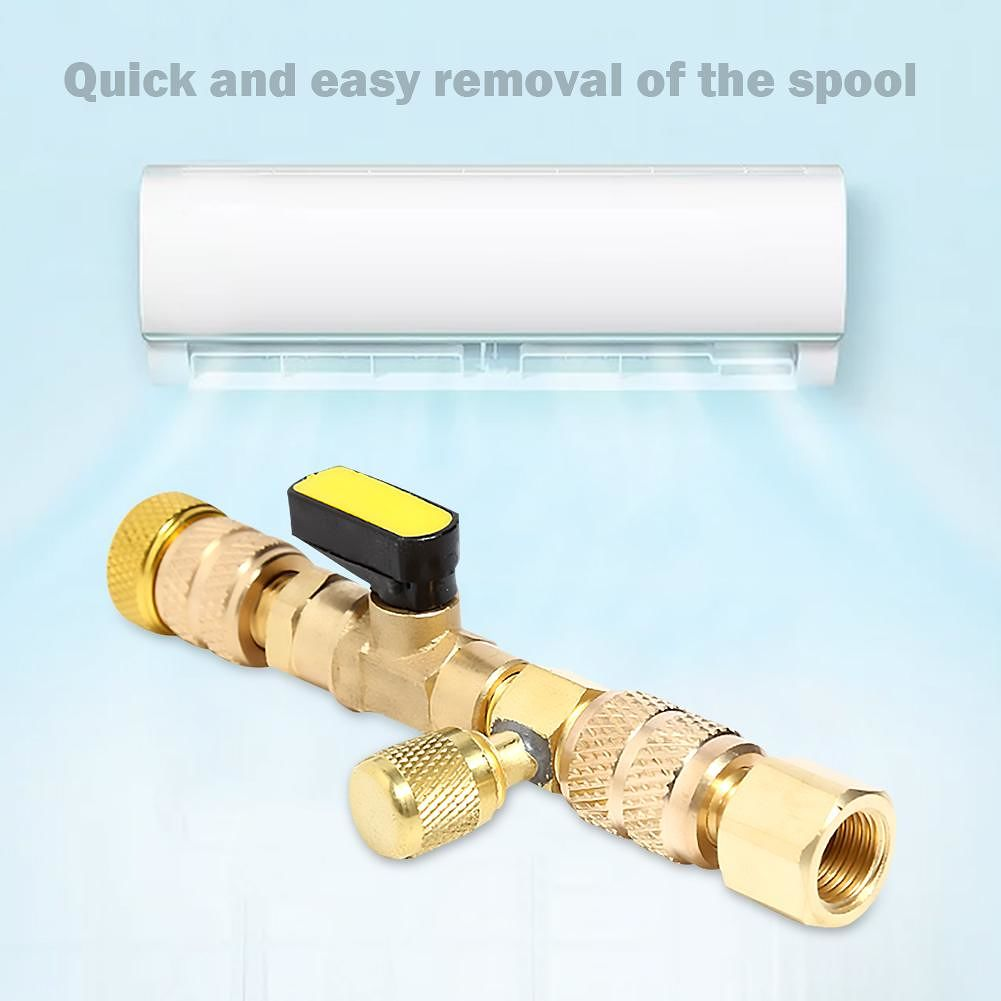 HVAC AC Valve Core Remover Dual Size Port Handling Tool for Car Automobile