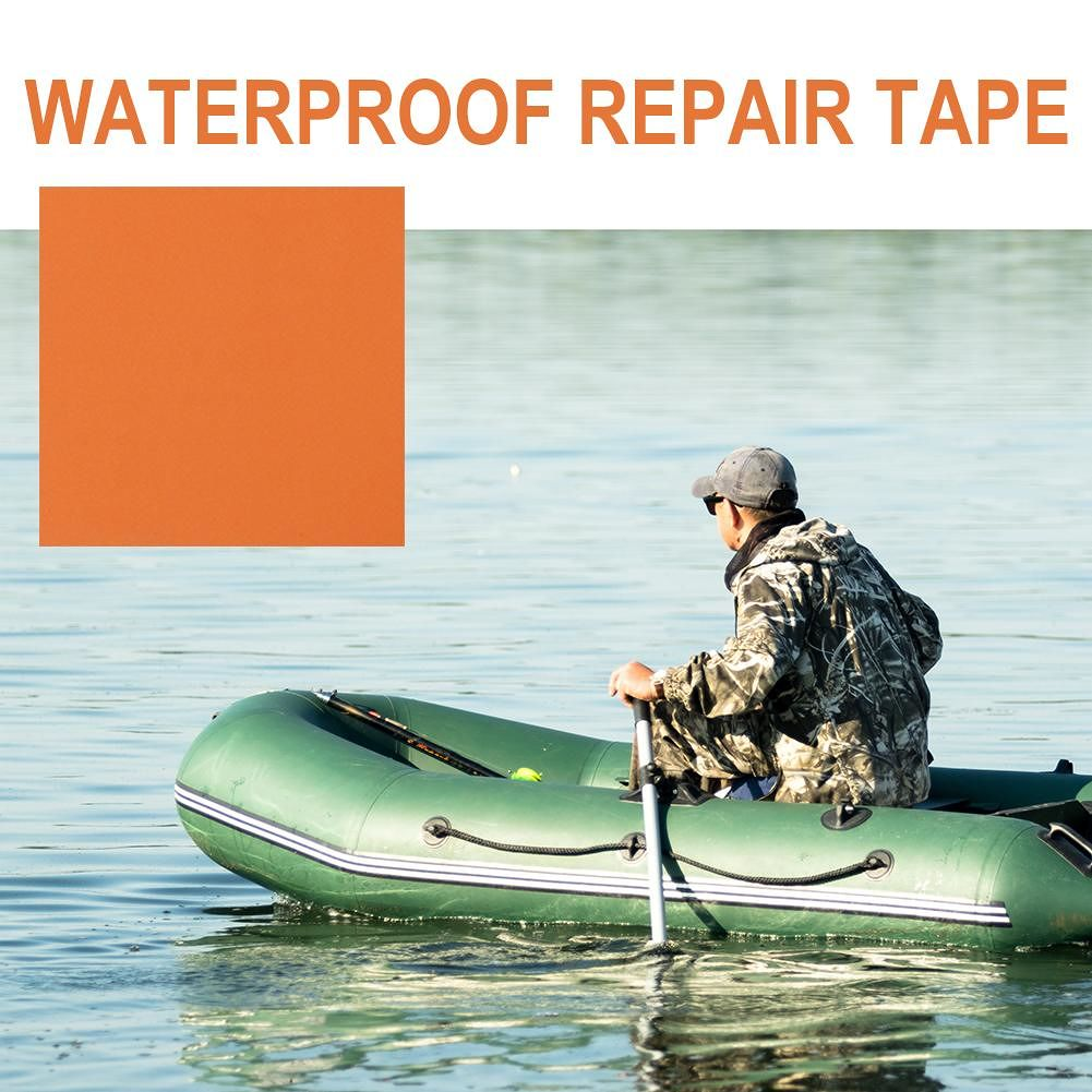 Waterproof TPU Repair Patch Tent Inflatable Rubber Boat Paste (Orange)