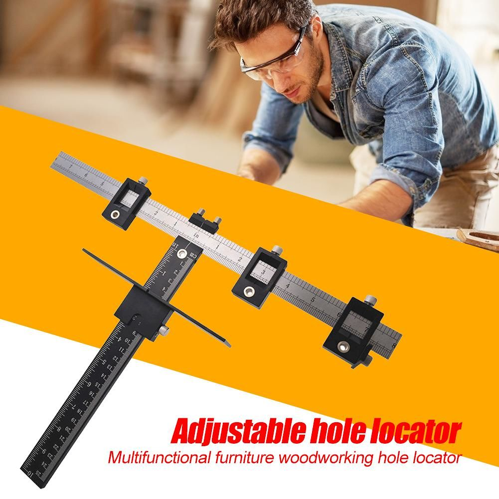Adjustable Multi-functional Furniture Woodworking Hole Locator Drill Guide