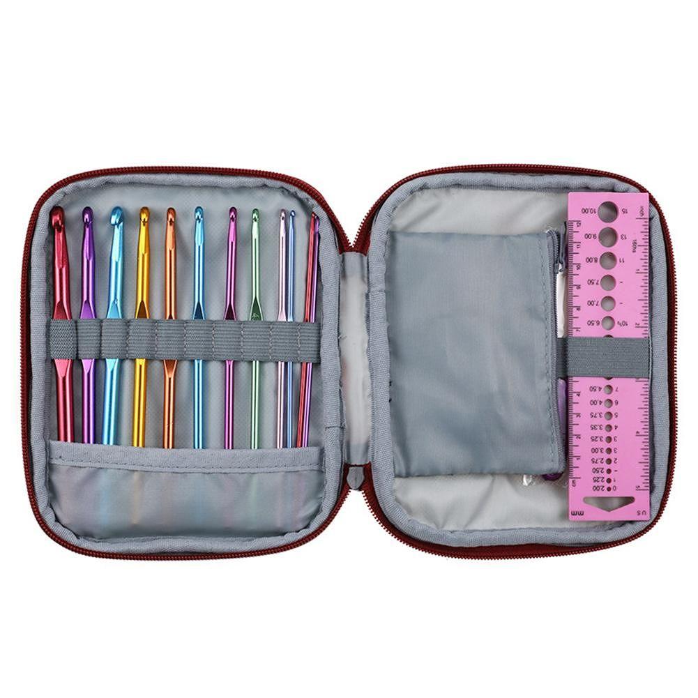 9pcs TPR Aluminum Sewing Needles Crochet Hooks Stitching Tools (CK147-4)
