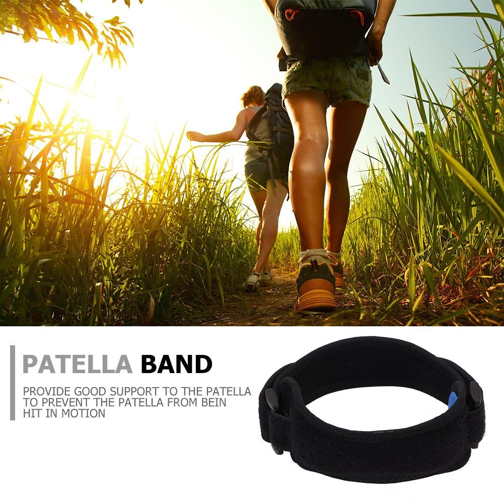 1pc Patella Kneecap Band Adjustable Silicone Knee Brace Breathable Support