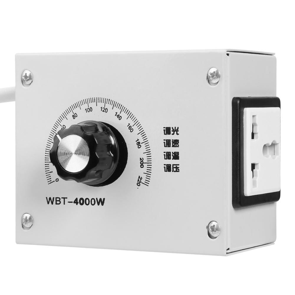 220V 4000W Variable Voltage Controller Fan Speed Motor Temperature Dimmer