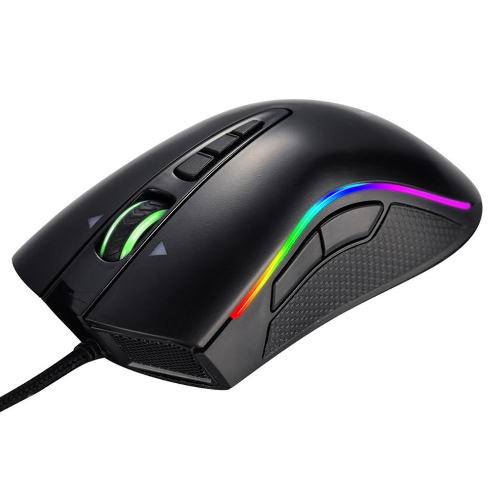 GAMEDIAS M8 Mamba 7 Keys USB Wired 4000 DPI Adjustable RGB Gaming Mouse