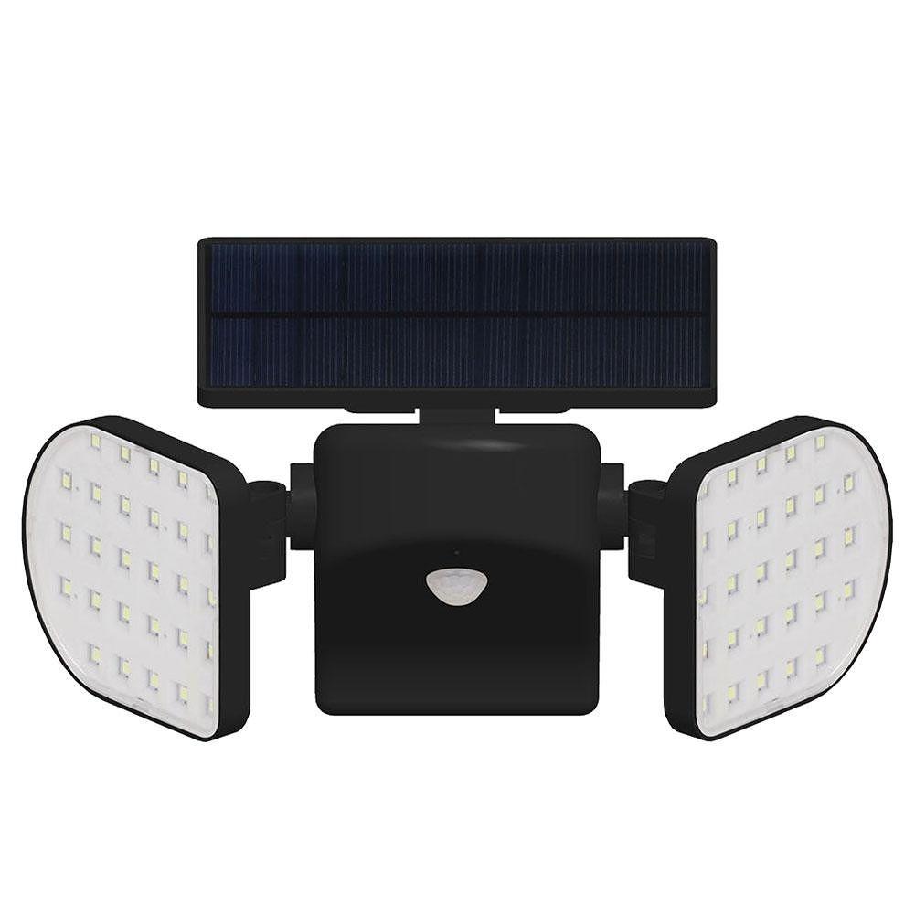56 LED Dual Head Solar Light Sensor Spotlight IP65 Waterproof Outdoor Lamp