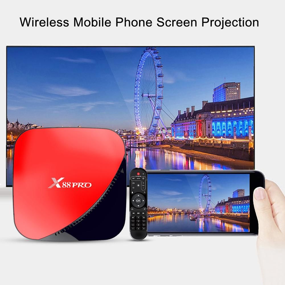 X88 PRO 4GB+64GB Android 9.0 Set Top Box 2.4G/5G Wifi 4K TV Receiver (AU)