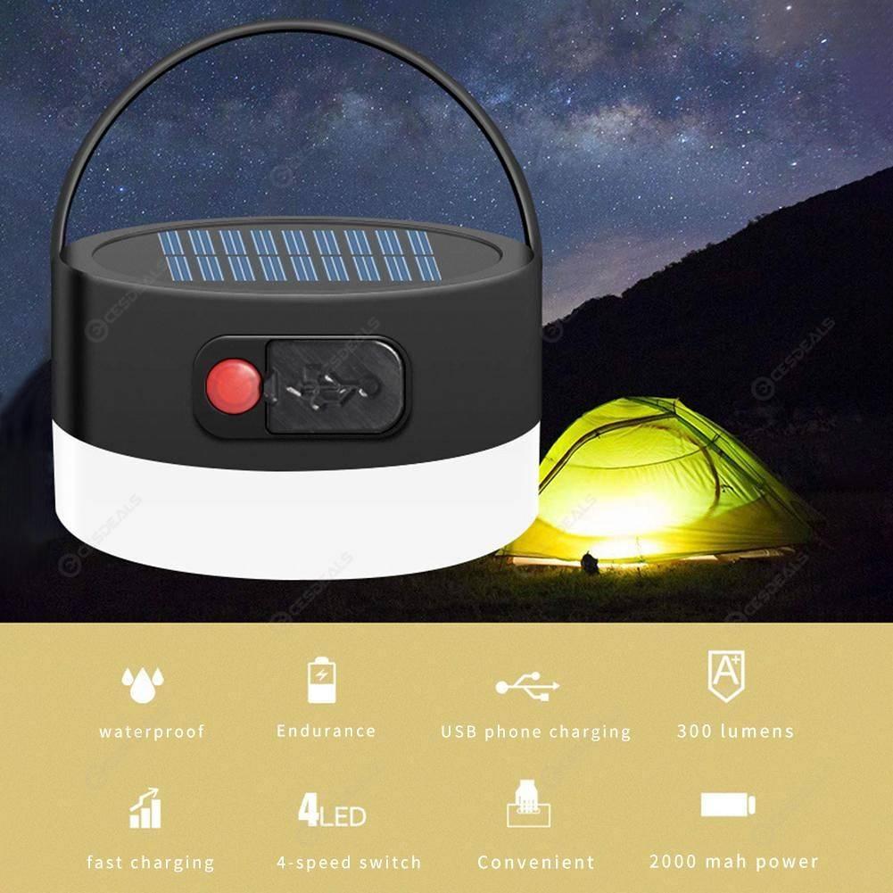 Migliore Marca Pittura Per Esterni 8led solar camping light outdoor waterproof round tent lamp usb flashlight
