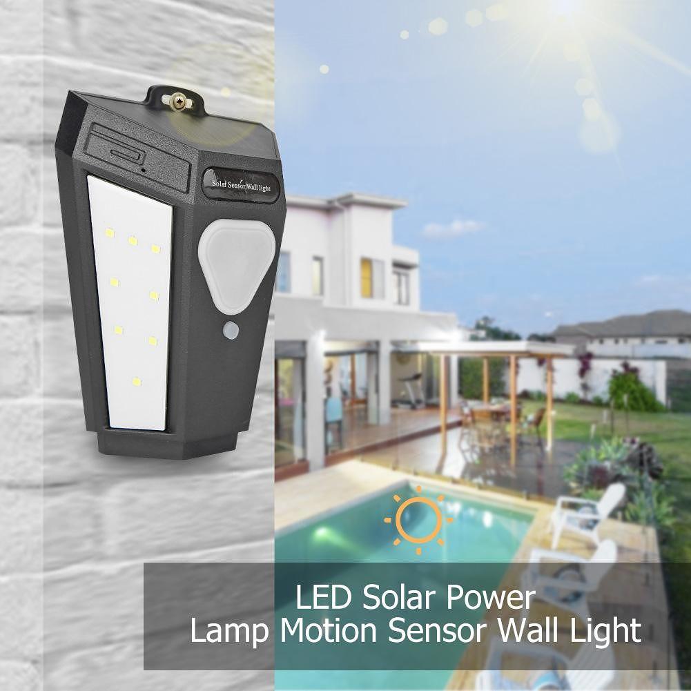 16LED Colorful Solar Wall Light Outdoor Waterproof Garden Yard Wall Lamp