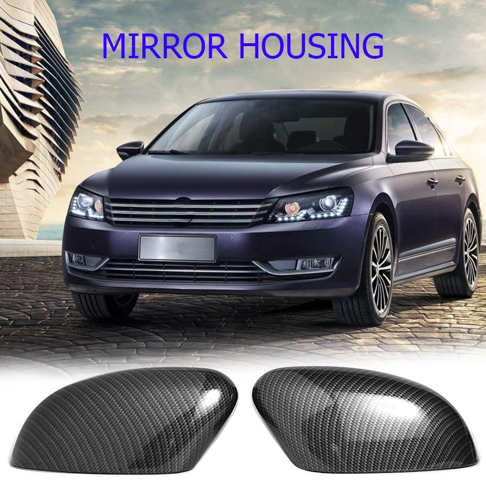 2pcs Car Auto Side Rear View Mirror Cover Trim Caps for Ford Focus MK2/MK3