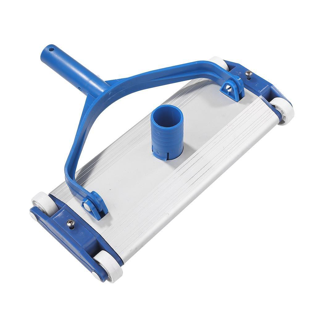 Aluminium Pool Vacuum Head w/Wheels Cleaning Tool for Swimming Pool Pond
