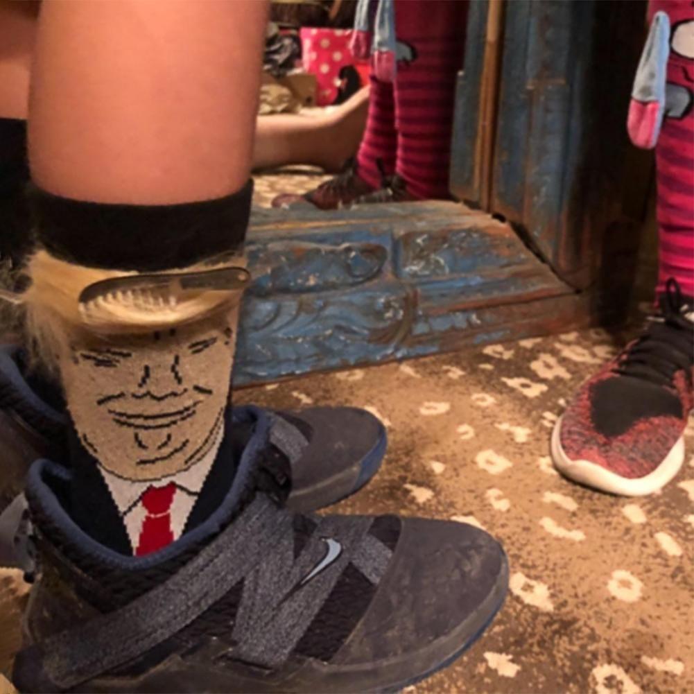 Black trump Sock Sport Sock Funny Sock