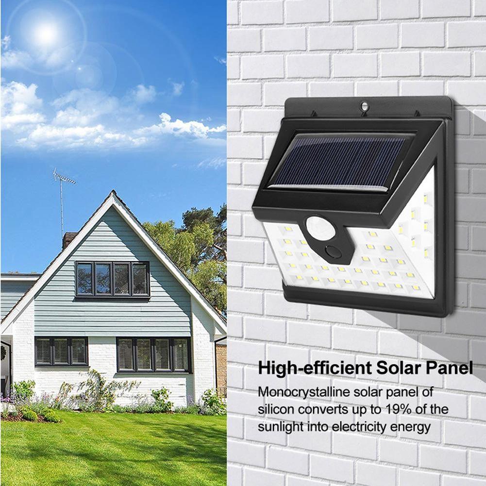 40LED Solar Wall Lamp Waterproof Motion Sensor Outdoor Garden Night Light