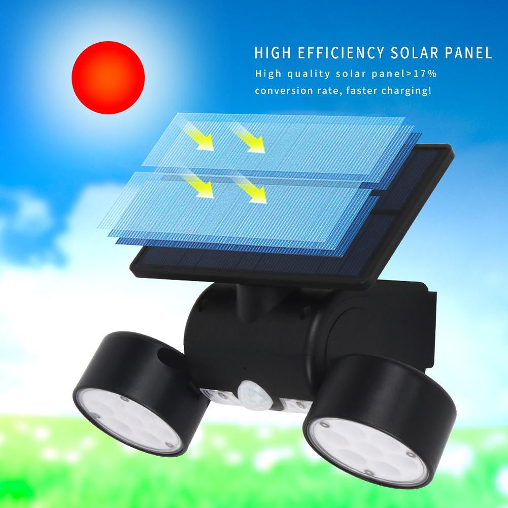 30LED Solar Motion Sensor Wall Light Outdoor Waterproof Garden Street Lamp