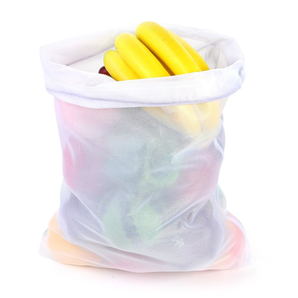 43x30cm Reusable Mesh Produce Bags Washable Organizer for Shopping Storage