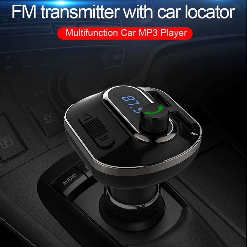 T19 USB Charger Adapter Support MP3 TF Card U Disk FM Transmitter Bluetooth