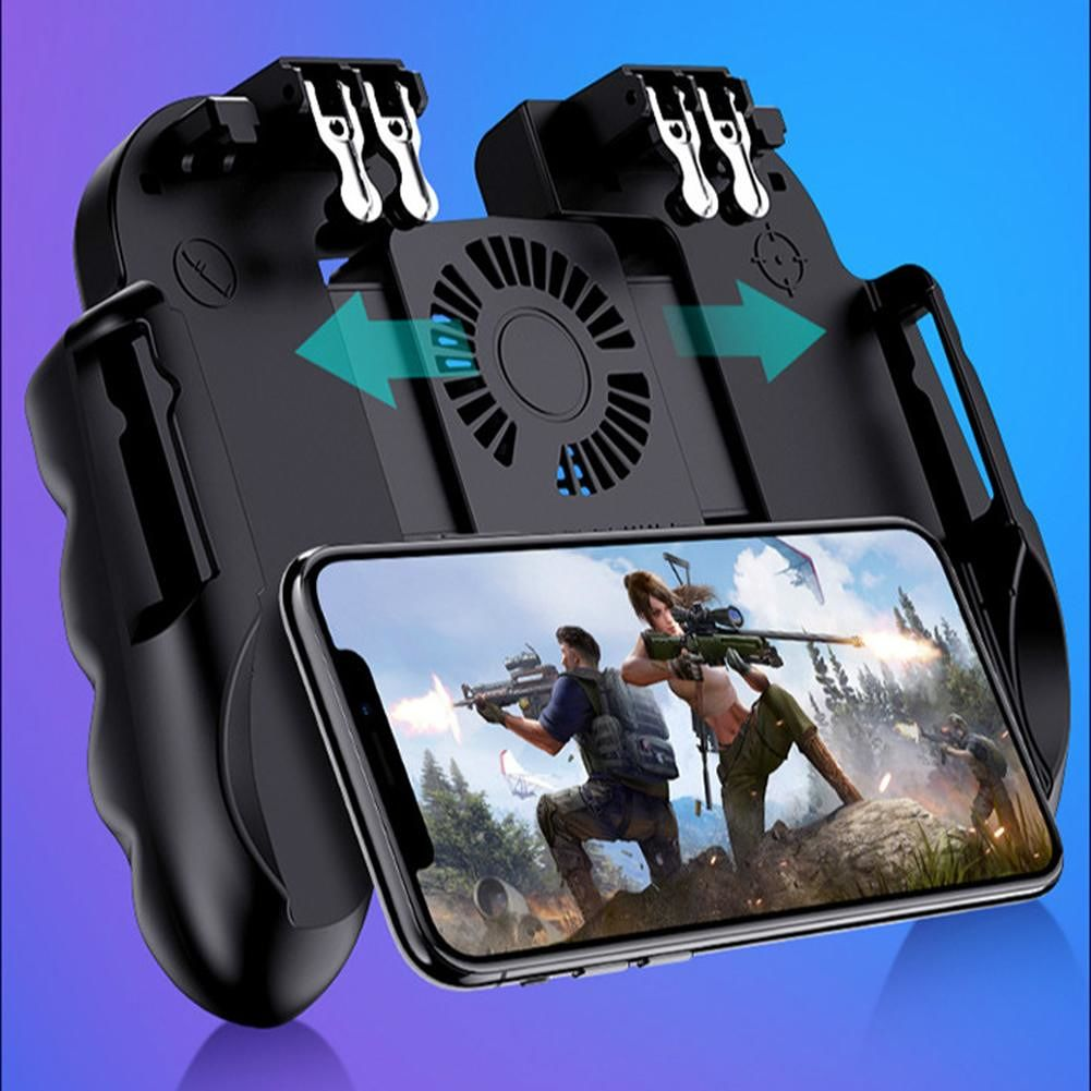 H9 Mobile Game Handle Controller Joystick Trigger Gamepad for PUBG (B)