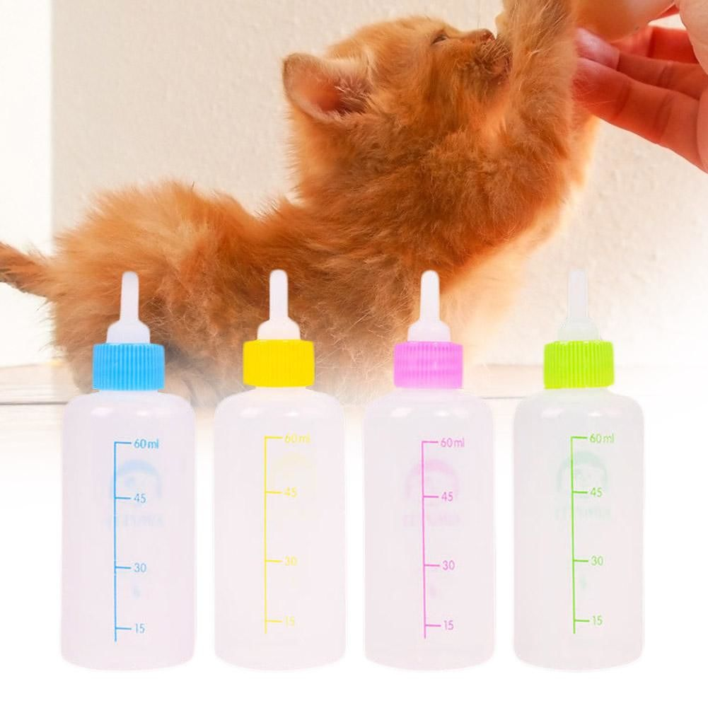 60mL Pet Milk Bottle Nipple Pacifier Dog Puppy Cat Drinking Water Feeder