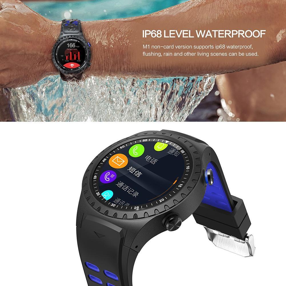 M1 Smart Watch IP67 Support SIM Bluetooth Phone Call GPS Smartwatch (Blue)