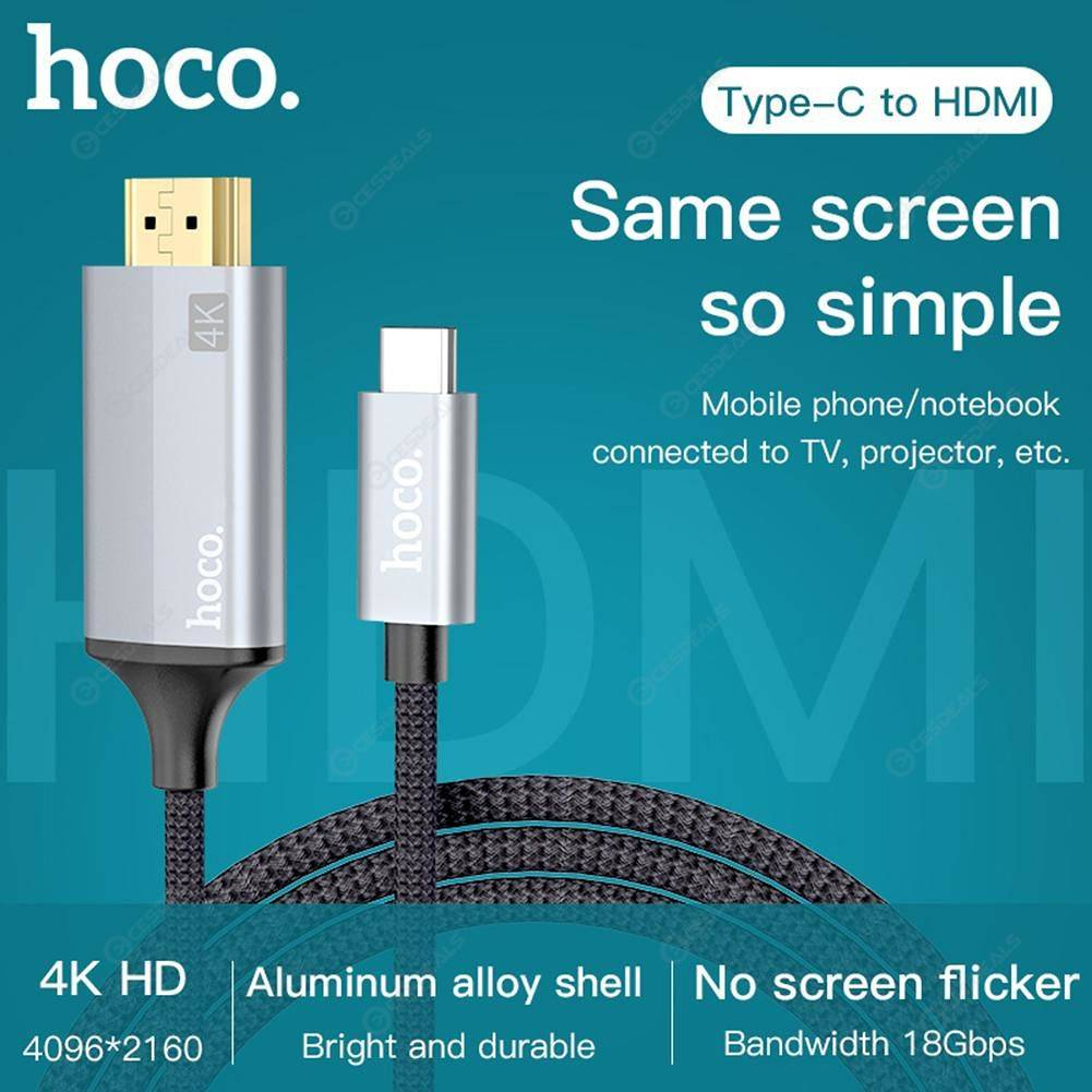 HOCO UA13 Type-C to HDMI Cable 4K Video DisplayPort Male to Male Adapter