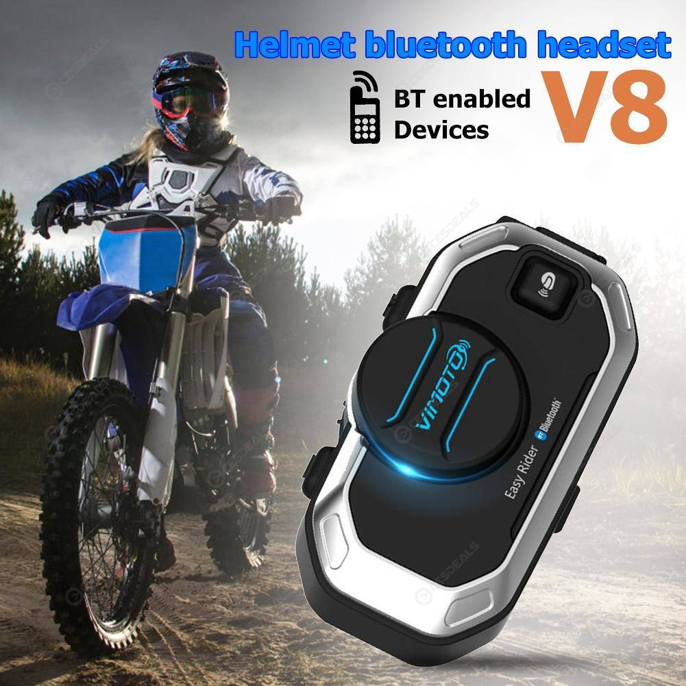 Vimoto V8 Motorcycle Helmet GPS Radios Wireless Bluetooth Intercom Headset