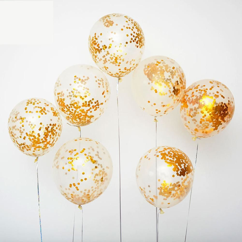 20pcs Sequins Latex Balloons Inflatable Air Ballon Party Decoration