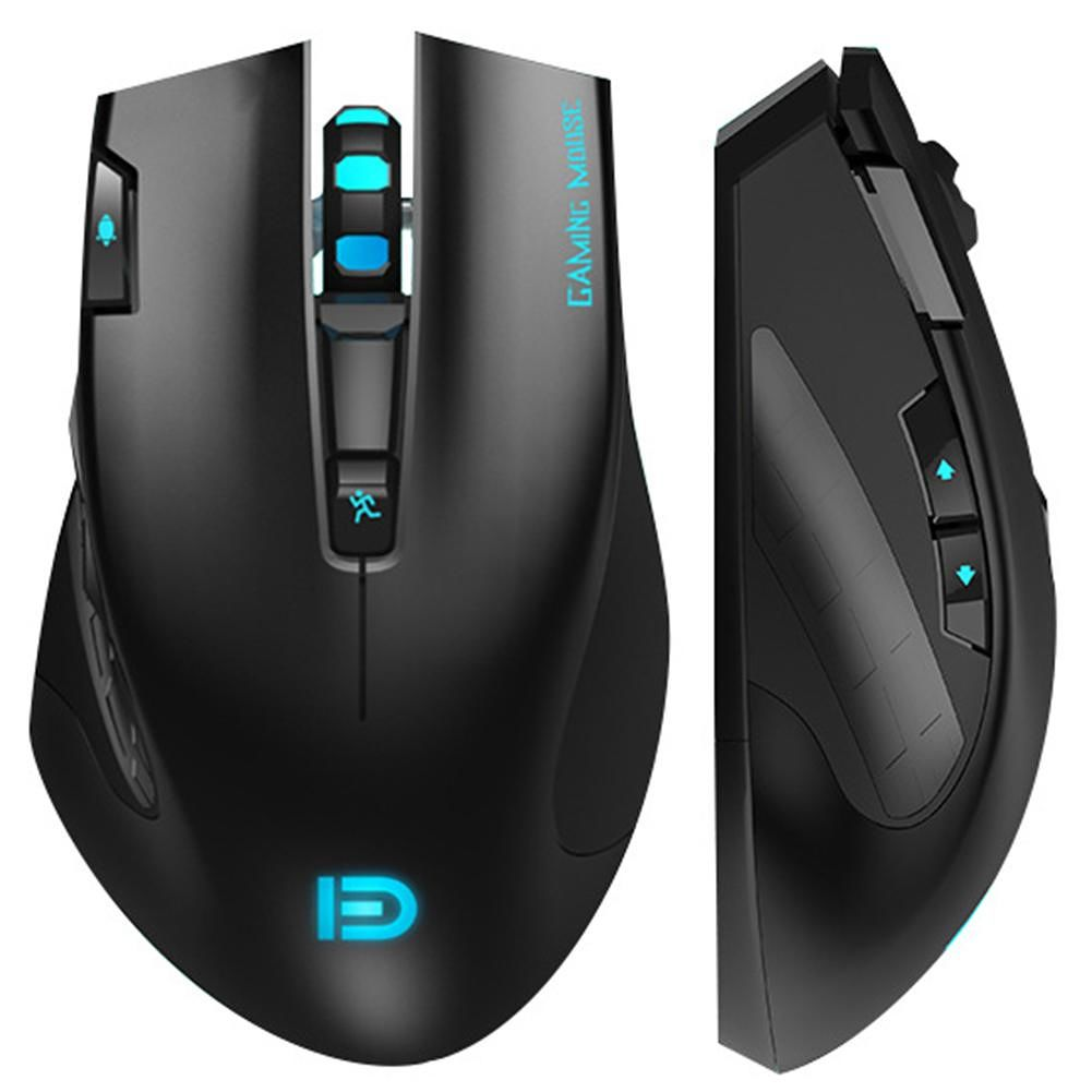 FD i750 2.4GHz 3 Keys USB Wireless 2400 DPI Adjustable Optical Gaming Mouse