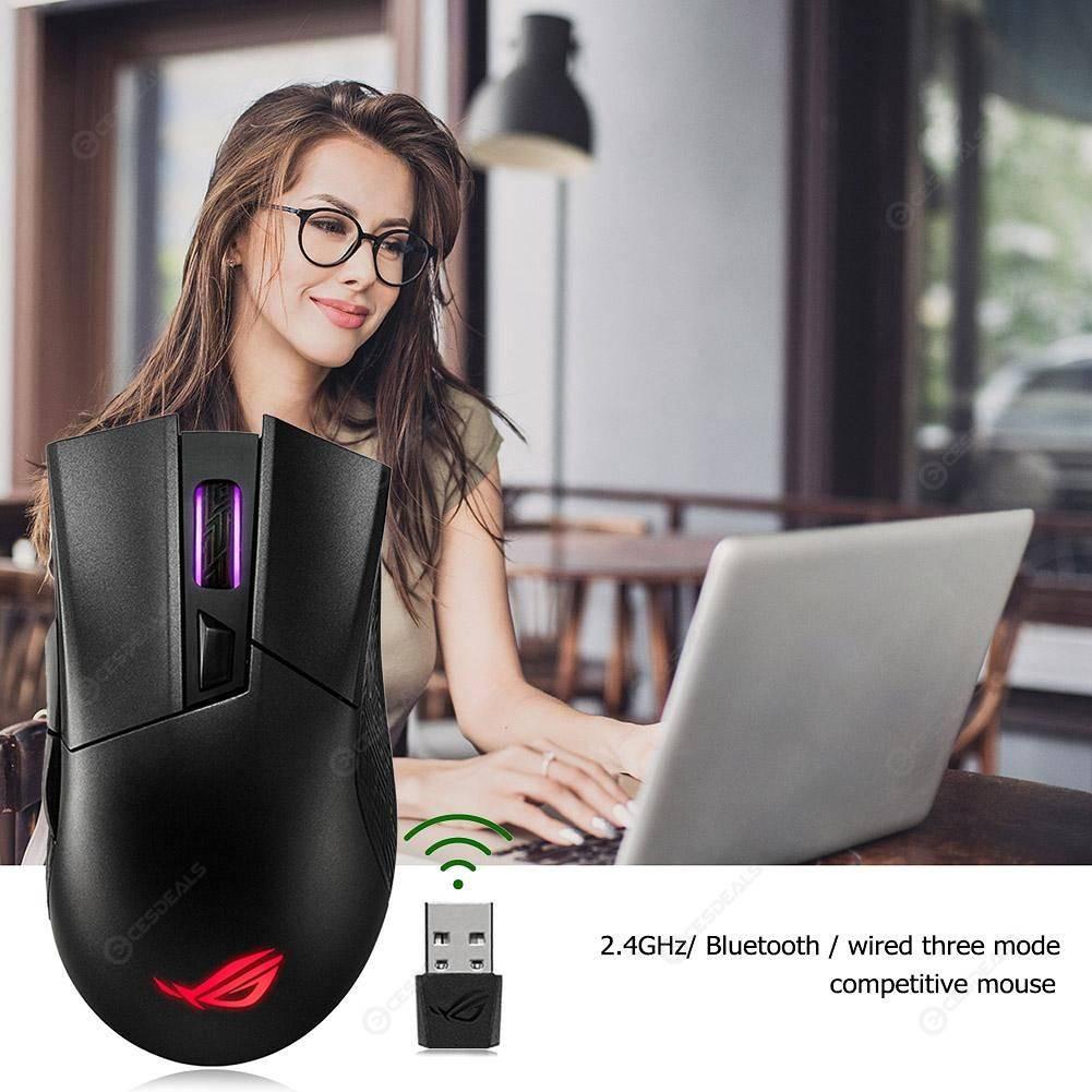 ASUS ROG Gladius II 2.4GHz Bluetooth Wired Aura Sync RGB Wireless Mouse