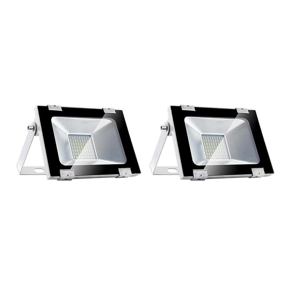 30W 63 LED Flood Light Ultrathin 220V Waterproof Wall Spotlight (CW X2)
