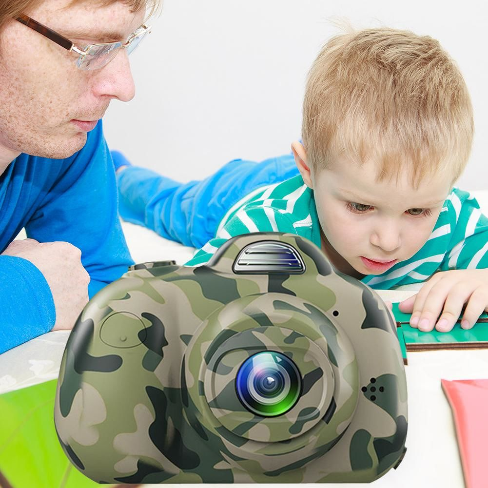 2 inch HD Screen Digital Mini Camera Cartoon Toys for Child Gift (Camo)