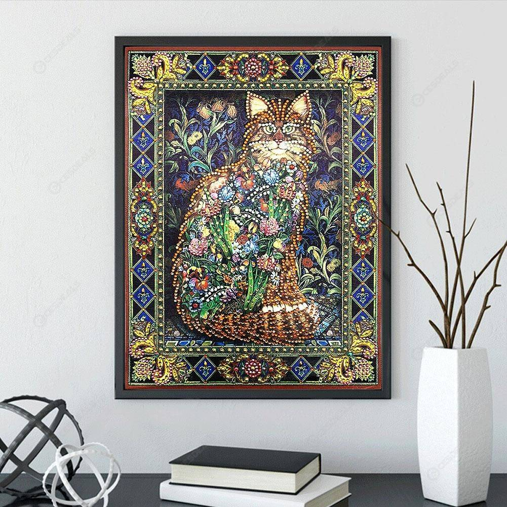 5D DIY Special Shaped Diamond Painting Cat Cross Stitch Mosaic Craft Kits