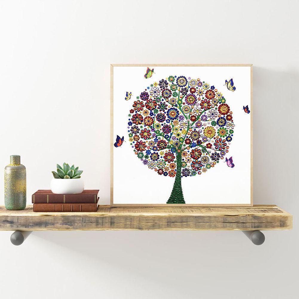 5D DIY Special Shaped Diamond Painting Tree Cross Stitch Mosaic Kit (r8251)