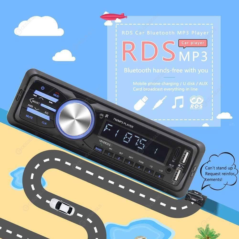 1010RDS Car Stereo MP3 Player Bluetooth FM AM Radio USB In Dash Head Unit