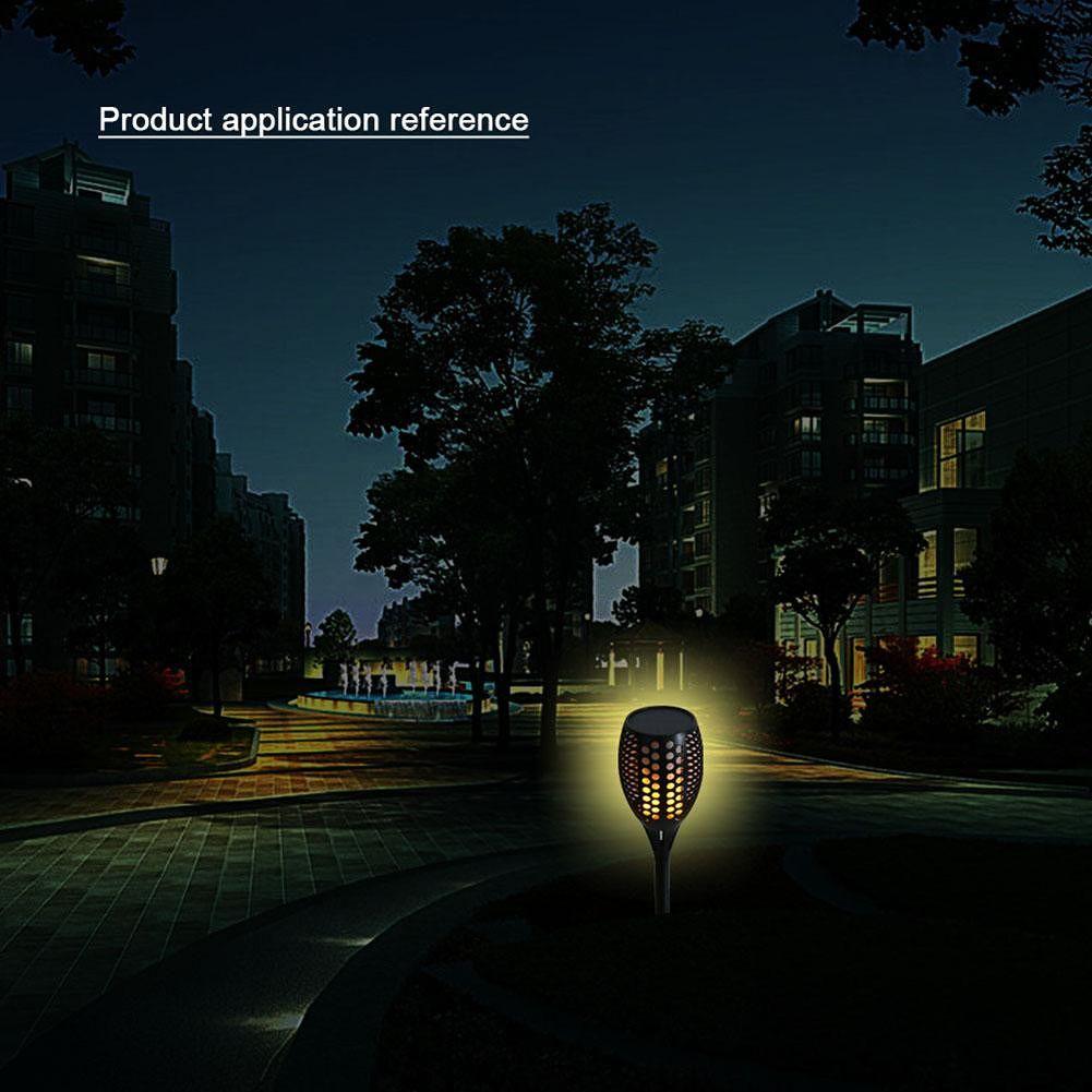 96 LED Solar Flame Lamp Flickering IP65 Waterproof Garden Landscape Light