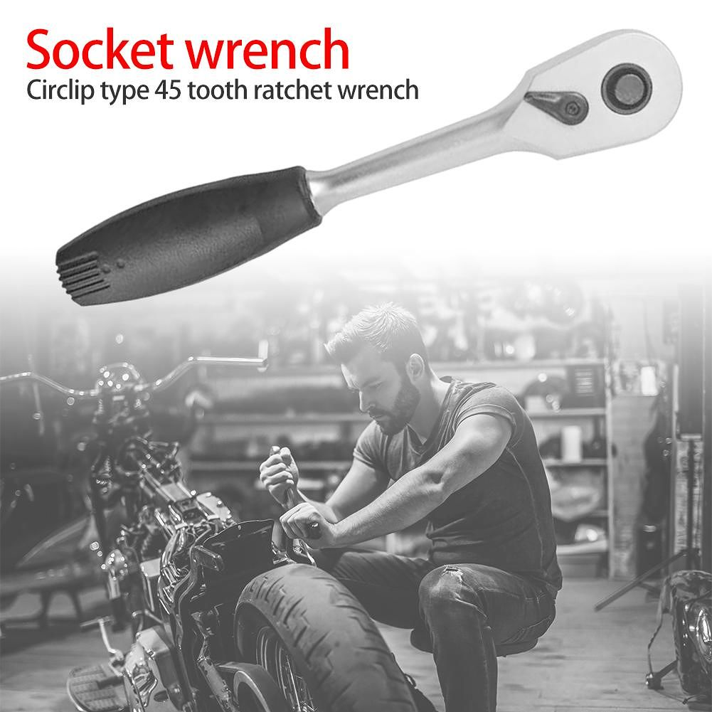 45 Teeth Ratchet Spanner Socket Wrench Quick Release Repair Hand Tool (1/2)