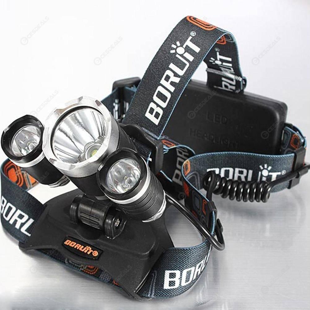 3Led Headlight Super Bright Led Head Lamp Adjustable Flashlight Light Torch